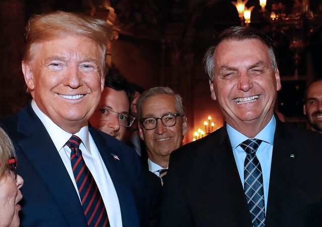 Donald Trump et Jair Bolsonaro le 7 mars 2020 (Photo de Alan SANTOS / BRAZILIAN PRESIDENCY / AFP)