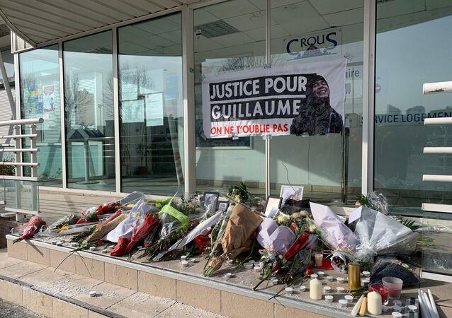 Rassemblement d'hommage à Guillaume T., Nanterre, le 11 février 2021