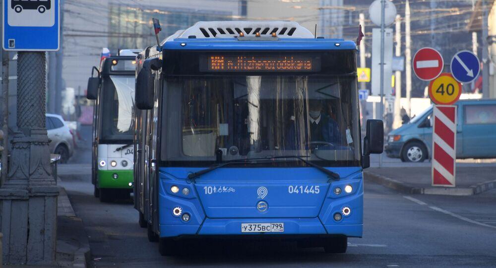 Un bus à Moscou (image d'illustration)