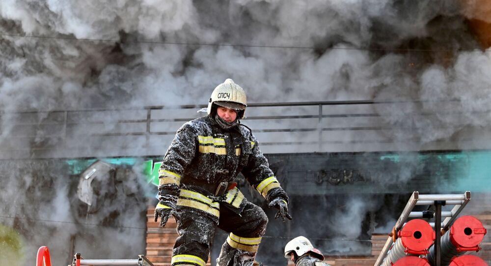 Un pompier en Russie, image d'illustration