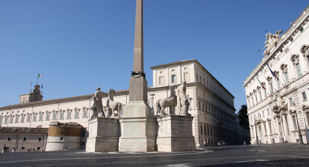Le Palais du Quirinal à Rome