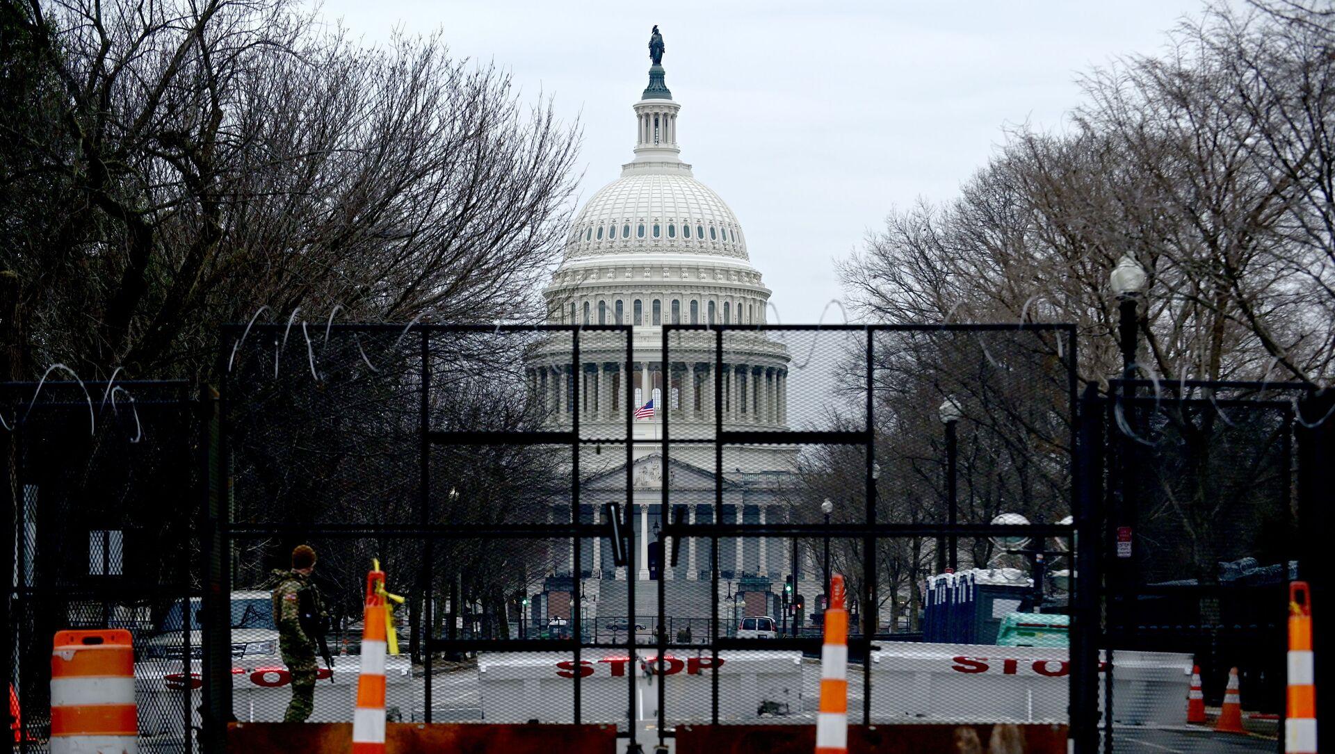 Le Capitole lors du procès en destitution de Donald Trump - Sputnik France, 1920, 13.02.2021