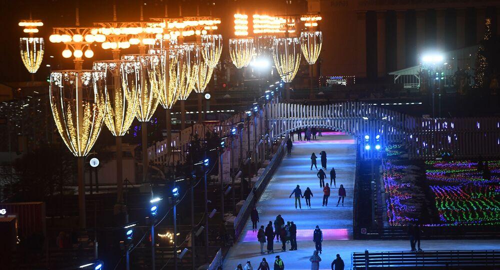 la plus grande patinoire de Moscou au Centre panrusse des expositions