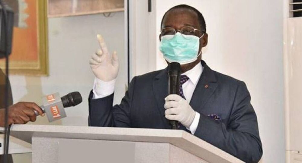 Dr Eugène Aka Aouele, ministre ivoirien de la Santé et de l'Hygiène publique.