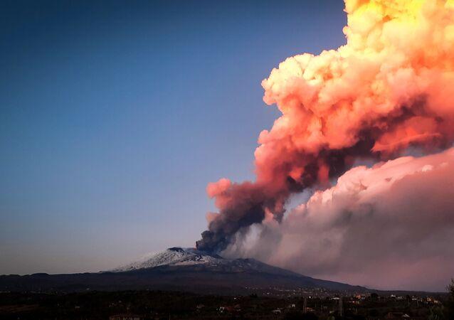 Une éruption de l'Etna