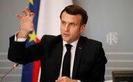 Emmanuel Macron à l'Elysée, le 21 février 2021