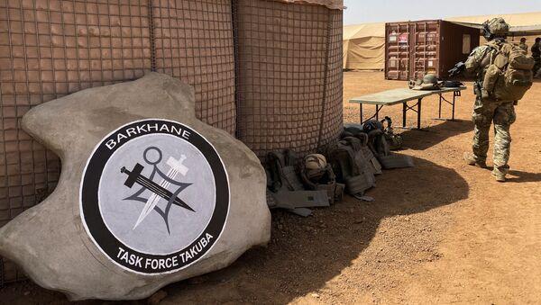 Logo des opérations spéciales dirigées par la France pour la nouvelle Task Force Barkhane Takuba - Sputnik France