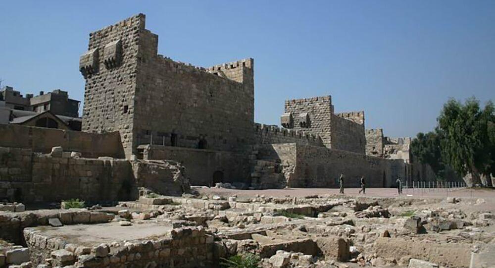 Vue de l'intérieur de la citadelle de Damas