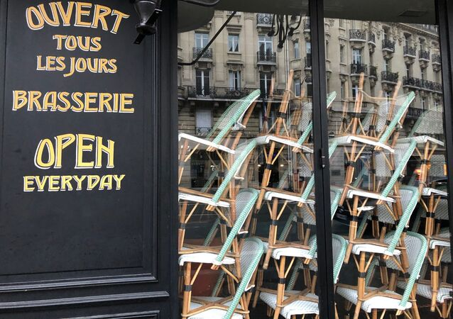 Un restaurant fermé à Paris