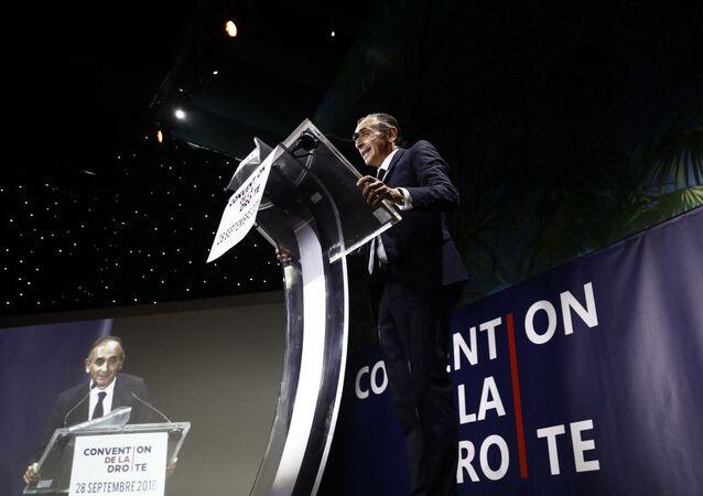 Eric Zemmour lors de la Convention de la Droite à Paris le 28 septembre 2019.