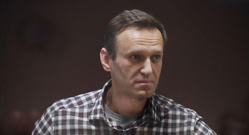Alexeï Navalny lors d'un procès à Moscou