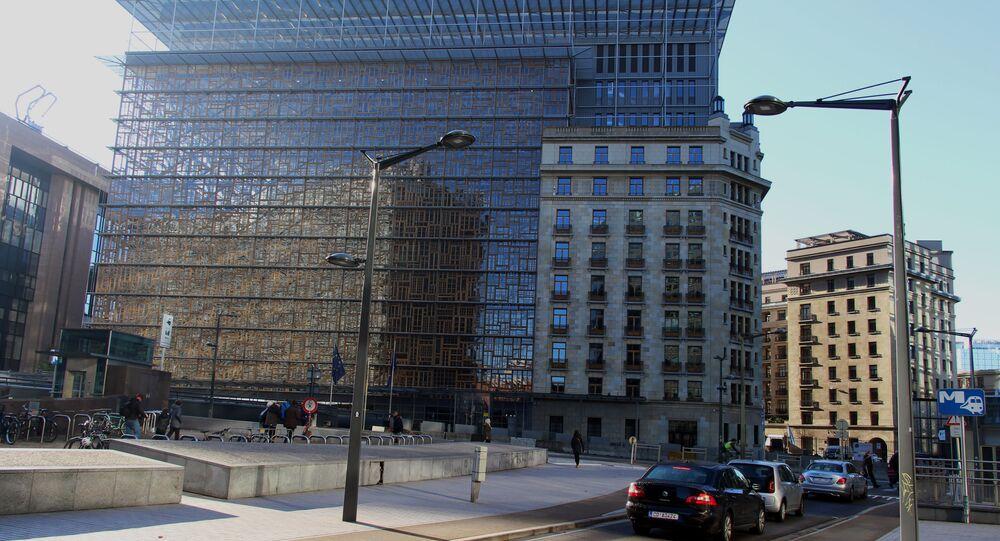 Le bâtiment Europa à Bruxelles (archive photo)