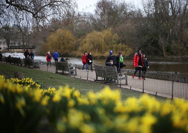 Londres lors de la pandémie, le 19 février 2021