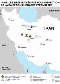 Iran : les sites nucléaires sous inspections de l'AIEA et sous menaces étrangères