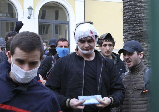 Vingt jeunes ont occupé la Préfecture de Corse à Ajaccio, 22 février 2021