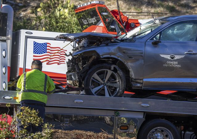 un accident routier avec la star du golf Tiger Woods