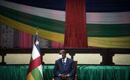 Faustin-Archange Touadéra, président centrafricain à Bangui, février 2021
