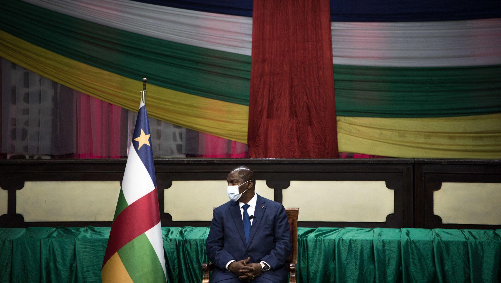 Faustin-Archange Touadéra, président centrafricain à Bangui, février 2021 - Sputnik France, 1920, 25.02.2021