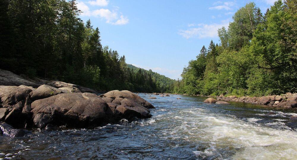 une rivière au Canada, image d'illustration