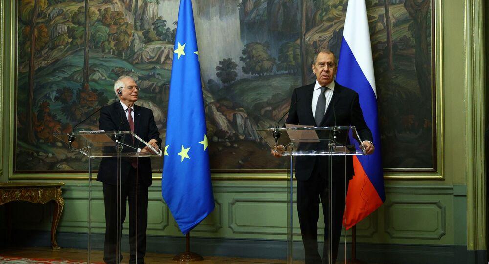 Serguei Lavrov et Josep Borrell à Moscou