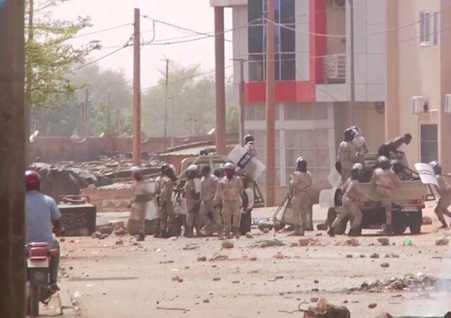 Répression des manifestations postélectorales à Niamey, Niger, le 24 février 2021.