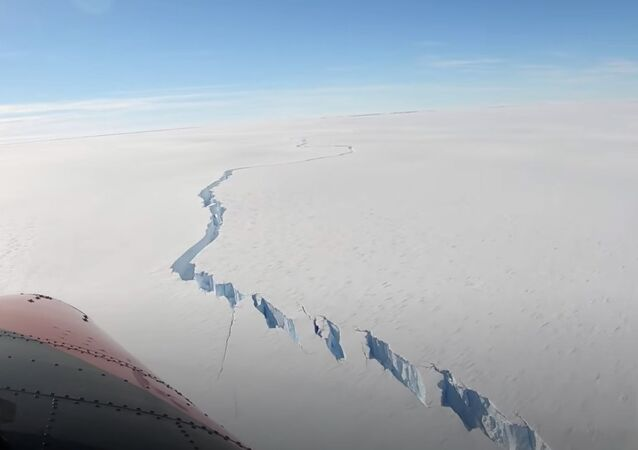 Un iceberg qui s'est détaché de la plateforme de glace de Brunt
