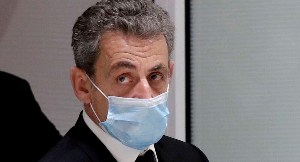 L'ex-Président français Nicolas Sarkozy au tribunal, le 1 mars 2021