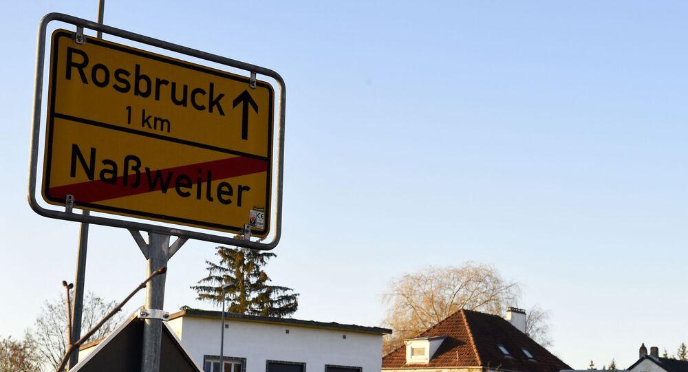 frontière allemande en Moselle, le 1 mars 2021