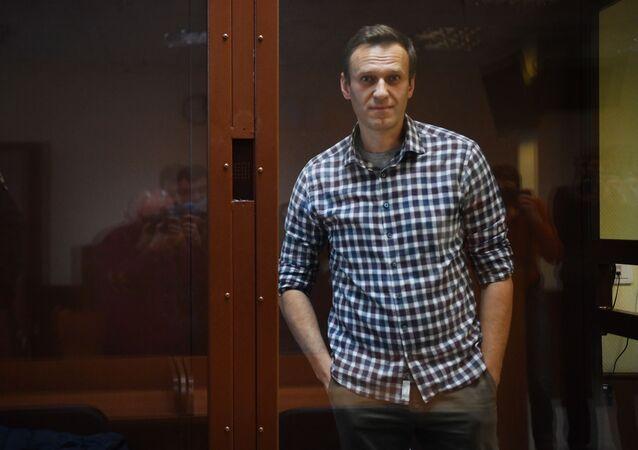 Alexeï Navalny lors de son procès dans le cadre de l'affaire Yves Rocher