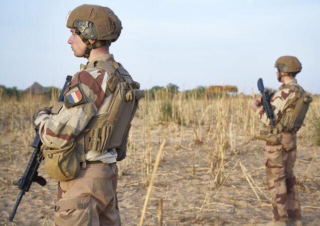 Les soldats de l'armée française faisant partie de l'Opération Barkhane