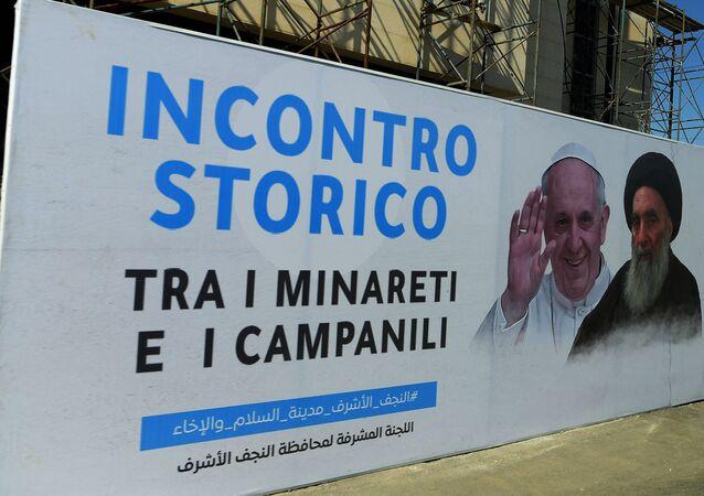 la rencontre du pape François et du grand ayatollah Ali al Sistani en Irak