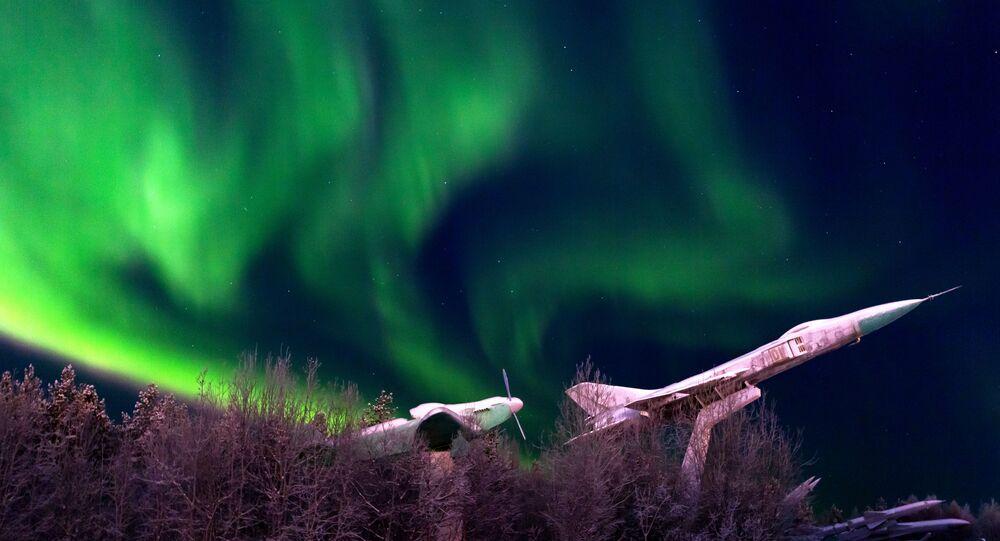 L'aurore boréale à Mourmansk