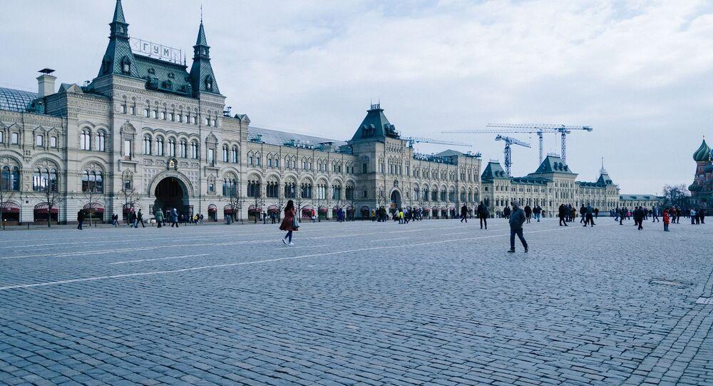 Sur la place Rouge à Moscou
