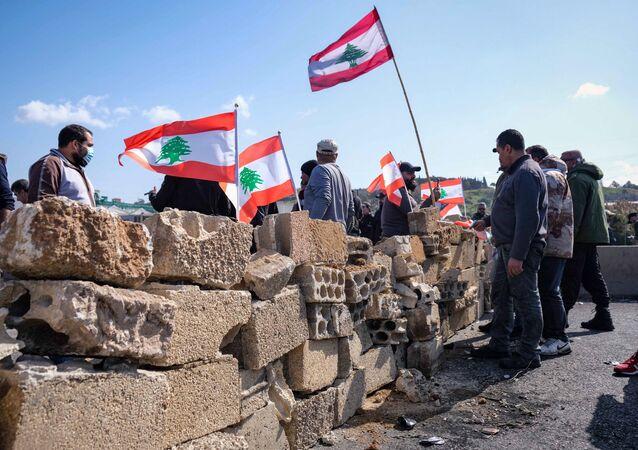 Blocage des routes au Liban