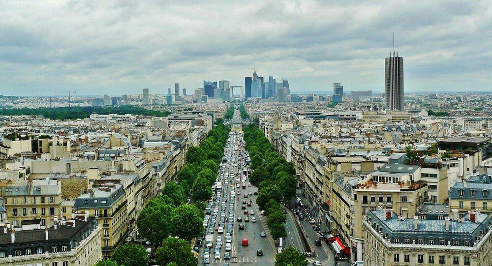 Paris vu du ciel. Image d'illustration