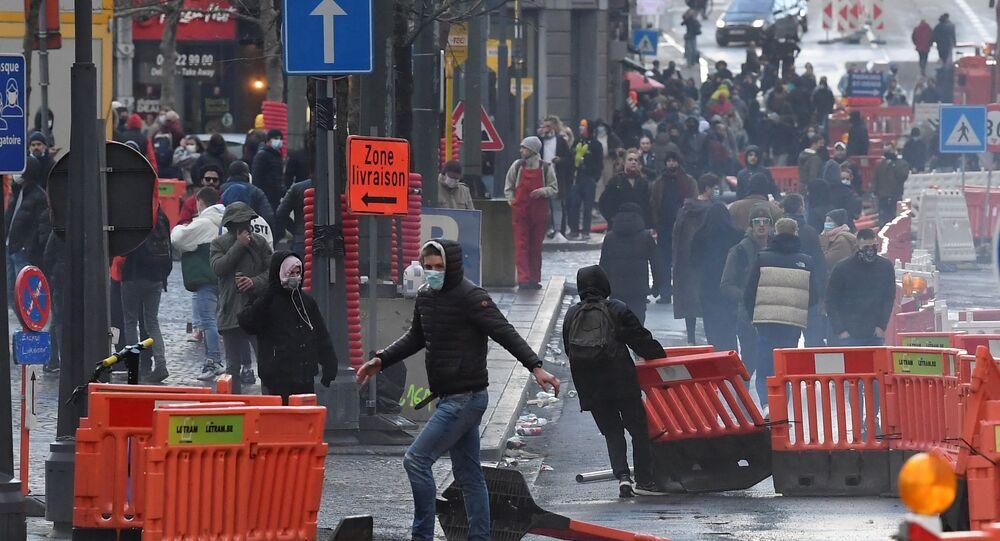 Des incidents dans le centre de Liège en marge d'une manifestation