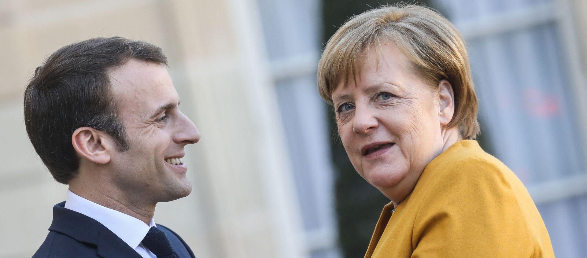 Emmanuel Macron accueille Angela Merkel à l'֤Élysée, 27 février 2019 - Sputnik France, 1920, 05.06.2021