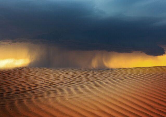 Une tempête de sable