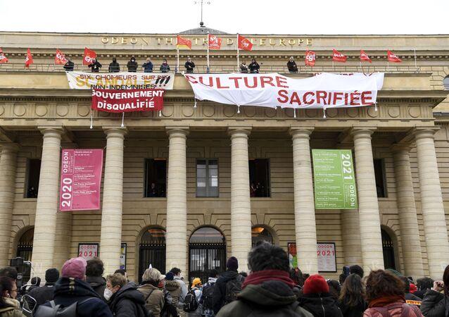 L'occupation du théâtre de l'Odéon, le 5 mars