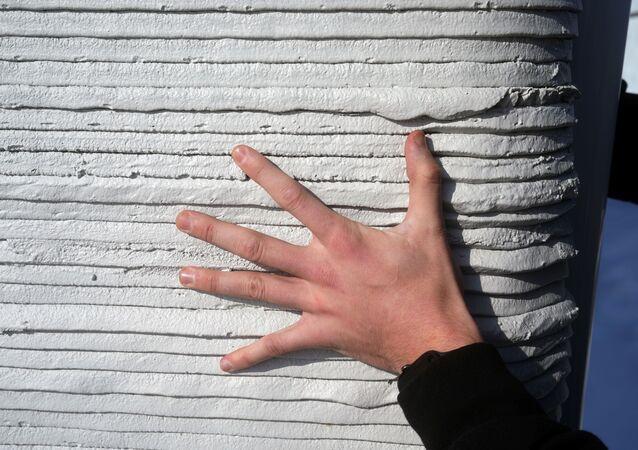 mur imprimé en 3D (image d'illustration)