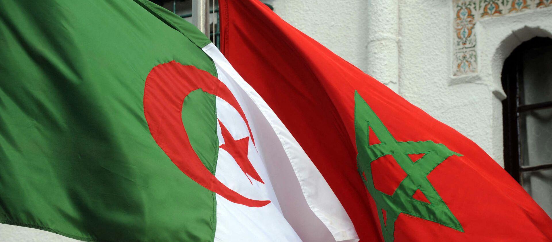 Drapeaux de l'Algérie et du Maroc (photo d'archives) - Sputnik France, 1920, 18.07.2021