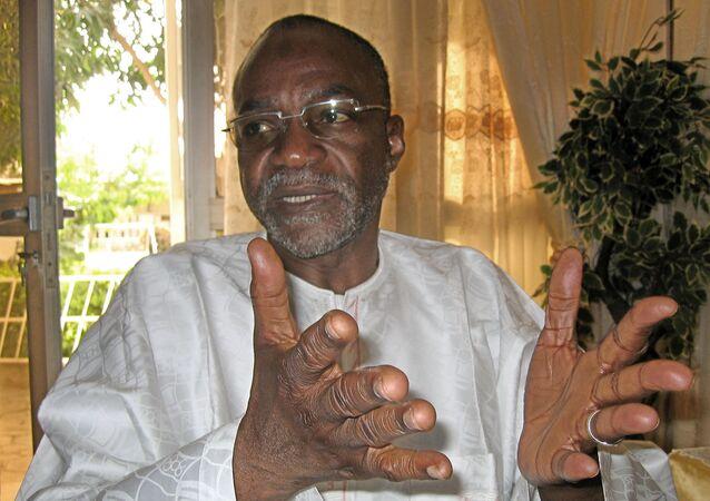 Saleh Kebzabo, l'opposant tchadien, chef du parti L'Union nationale pour la démocratie et le renouveau