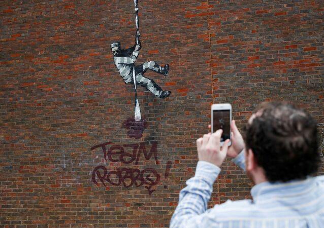 Une oeuvre de Banksy vandalisée à Reading, en Angleterre