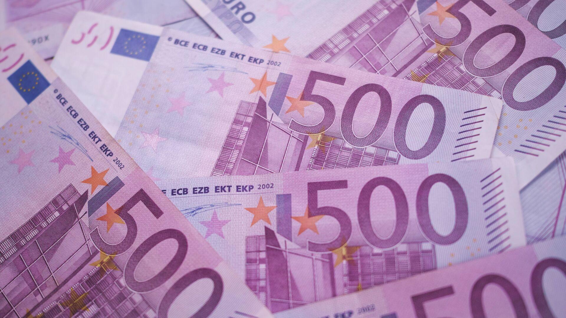 Des billets de 500 euros - Sputnik France, 1920, 18.08.2021
