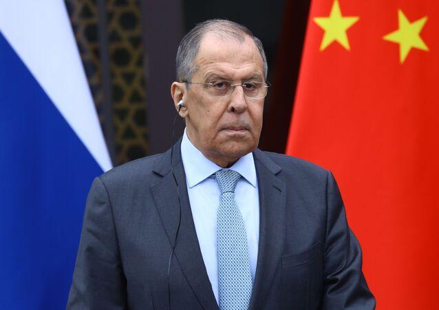 Visite de Sergueï Lavrov en Chine, le 23 mars 2020