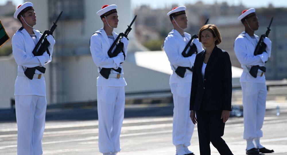 Florence Parly à bord du Charles de Gaulle, 1er septembre 2020