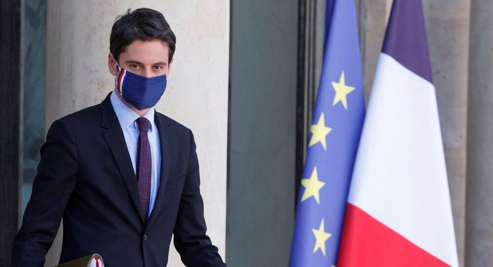 Gabriel Attal, porte-parole du gouvernement français