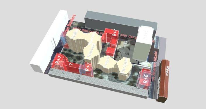 Les locataires de la résidence Bateliers-Antonini à Clichy s'attendent à voir pousser plusieurs immeubles (en rouge)