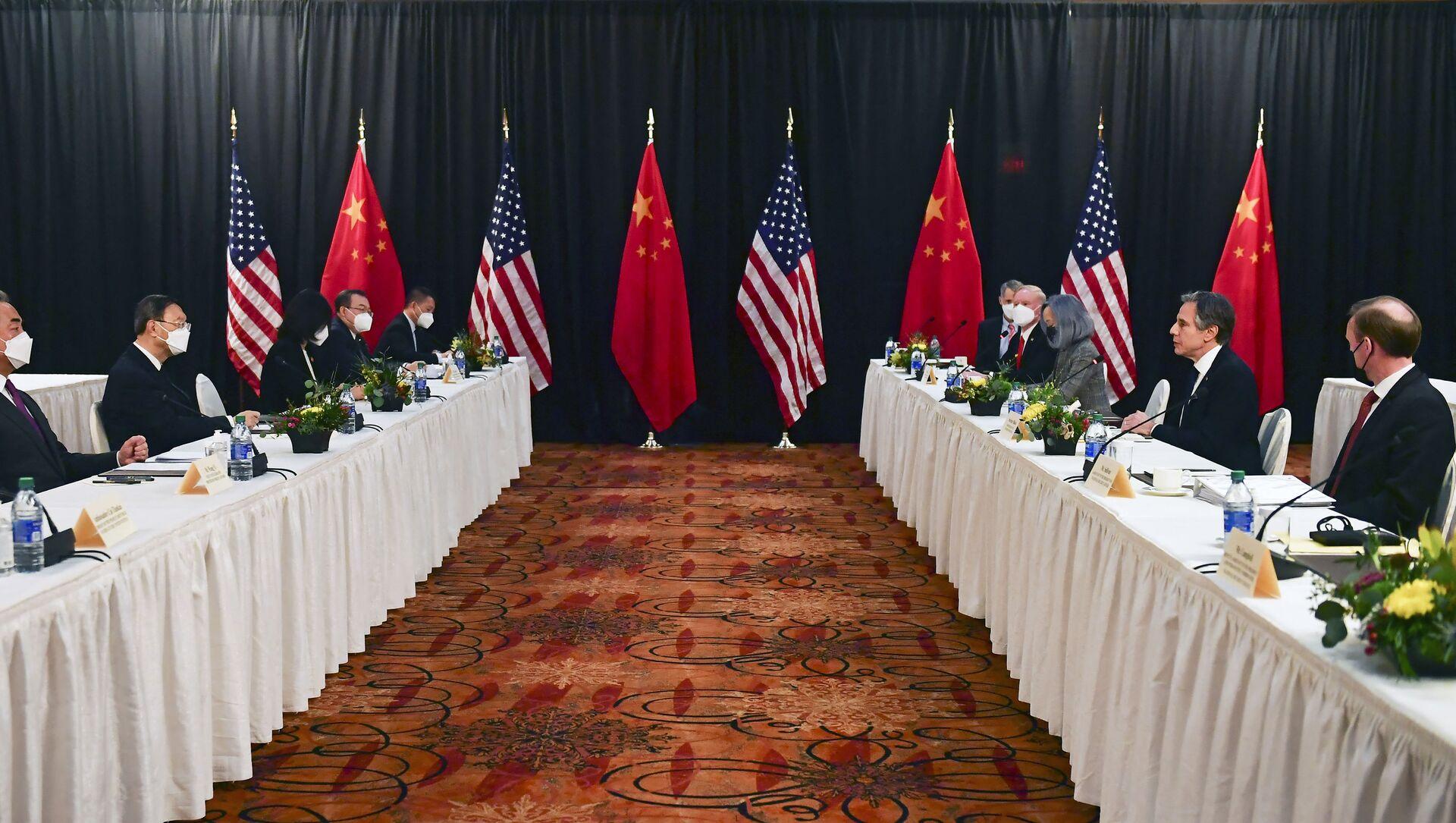 Rencontre des diplomaties américaine et chinoise en Alaska le 18 mars - Sputnik France, 1920, 25.03.2021