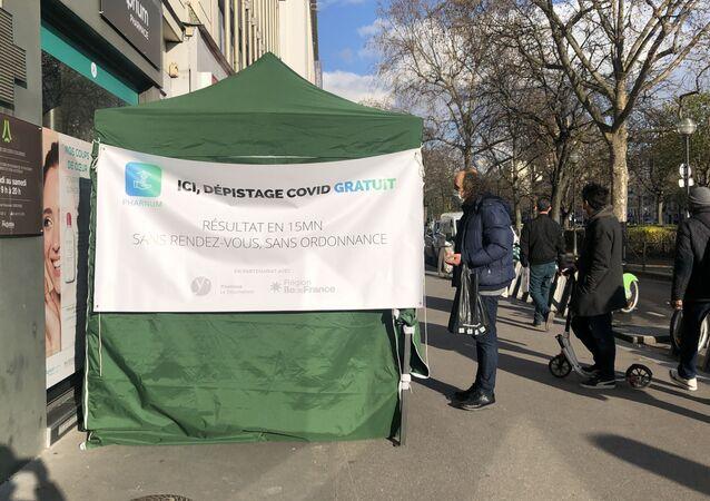 Dépistage Covid gratuit à Paris, le 25 mars 2021